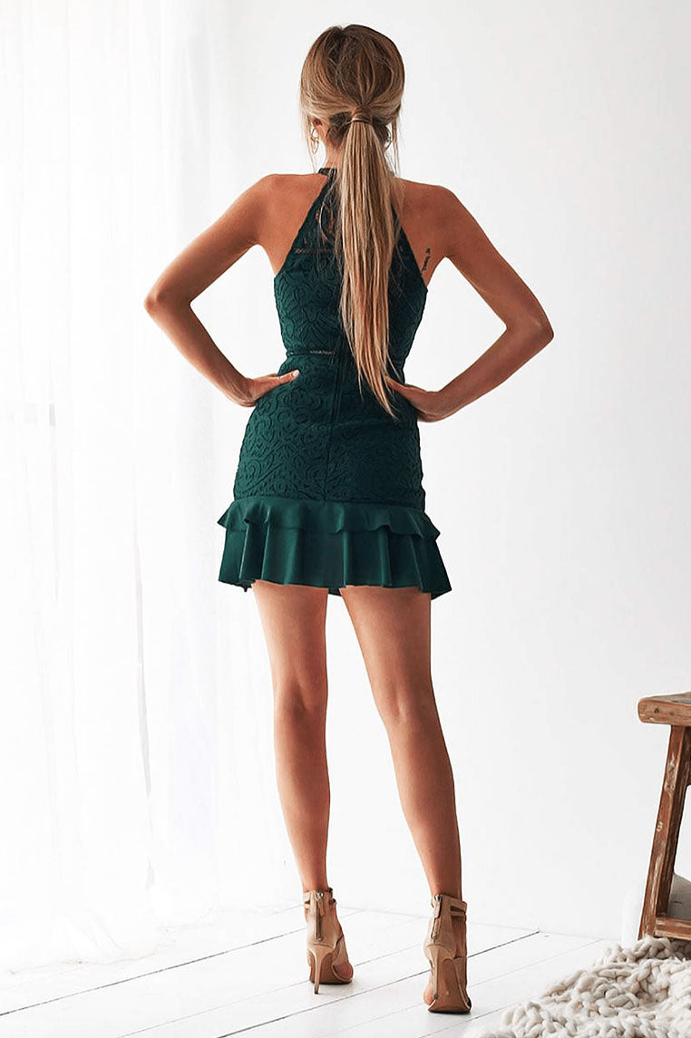 Mika Lace Dress - Emerald Green
