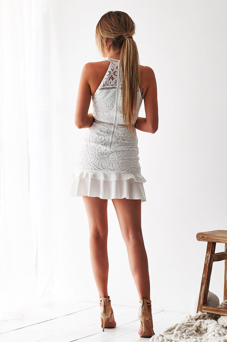 Mika Lace Dress - White