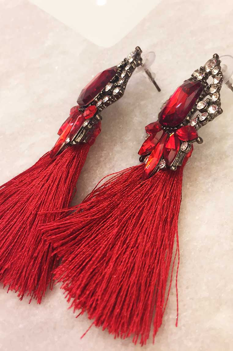 In Vogue Earrings - Red
