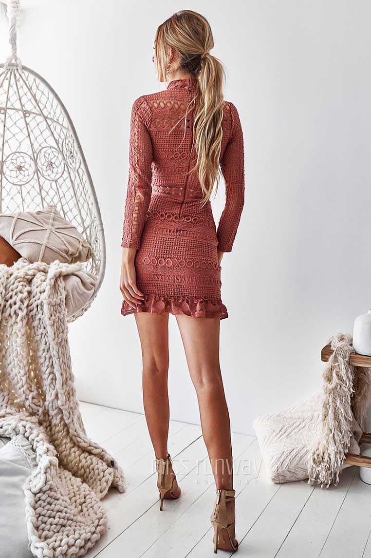Riverdale Lace Dress - Mauve