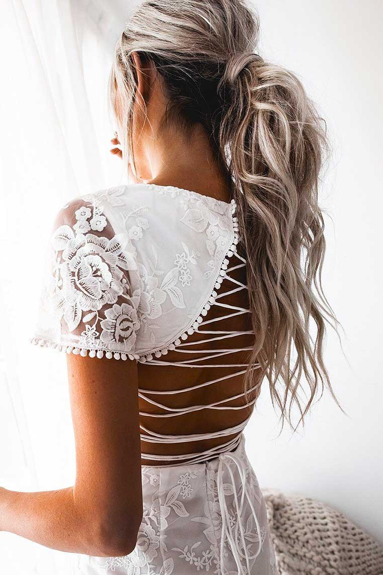 Shay Lace Dress - White