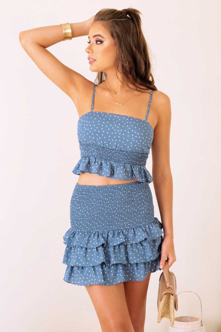 Sienna Set - Blue Polka Dot