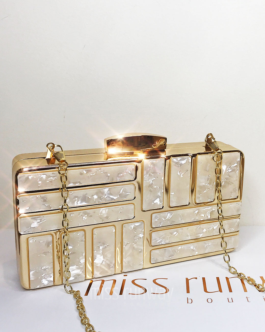 Taylor Box Clutch - Gold