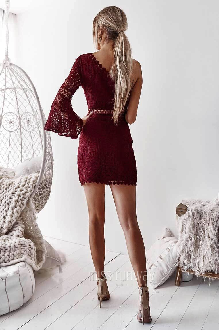Toga Lace Dress - Wine [PRE-ORDER]
