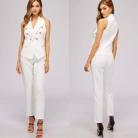 White Double Breasted Pant Suit $39 (reg. $79) Small & Medium