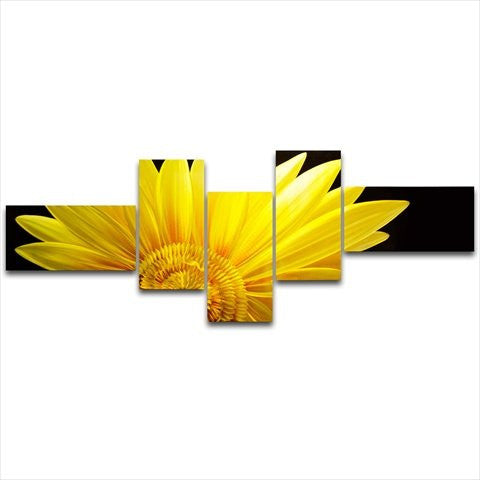 'The Sunflower' Brushed Aluminum Wall Decoration | Floral Metal Wall Art
