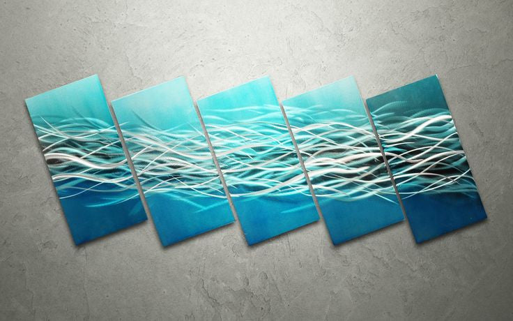 'Electric Waves' Abstract Metal Wall Art | Wall Decoration