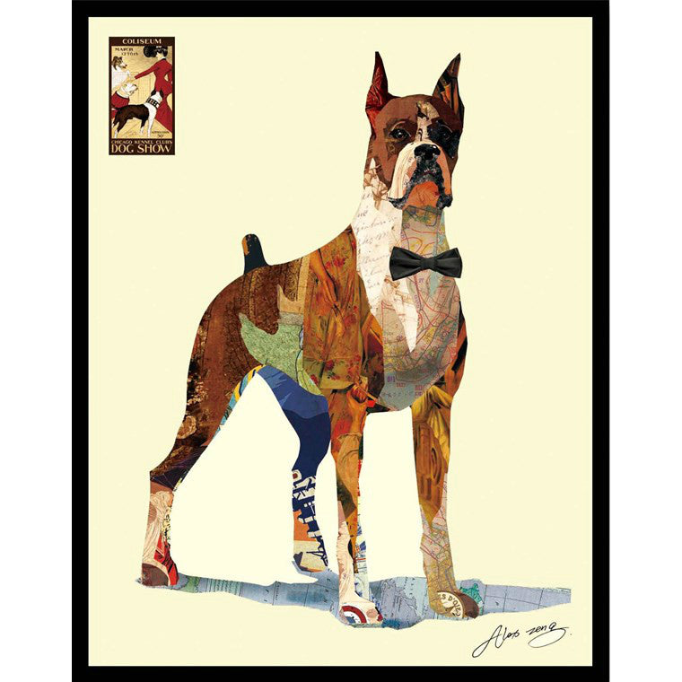 'The Boxer' Art collage wall art decoration