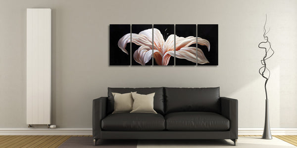 'Day Lily' 5 Piece set Wall Decoration | Floral Metal Wall Art