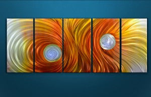'Firestorm' 5 Piece set | Abstract Metal Wall Art