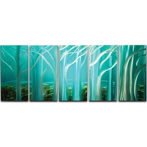 'Forest of Light' Landscape Metall Wall Art | Brushed Aluminum