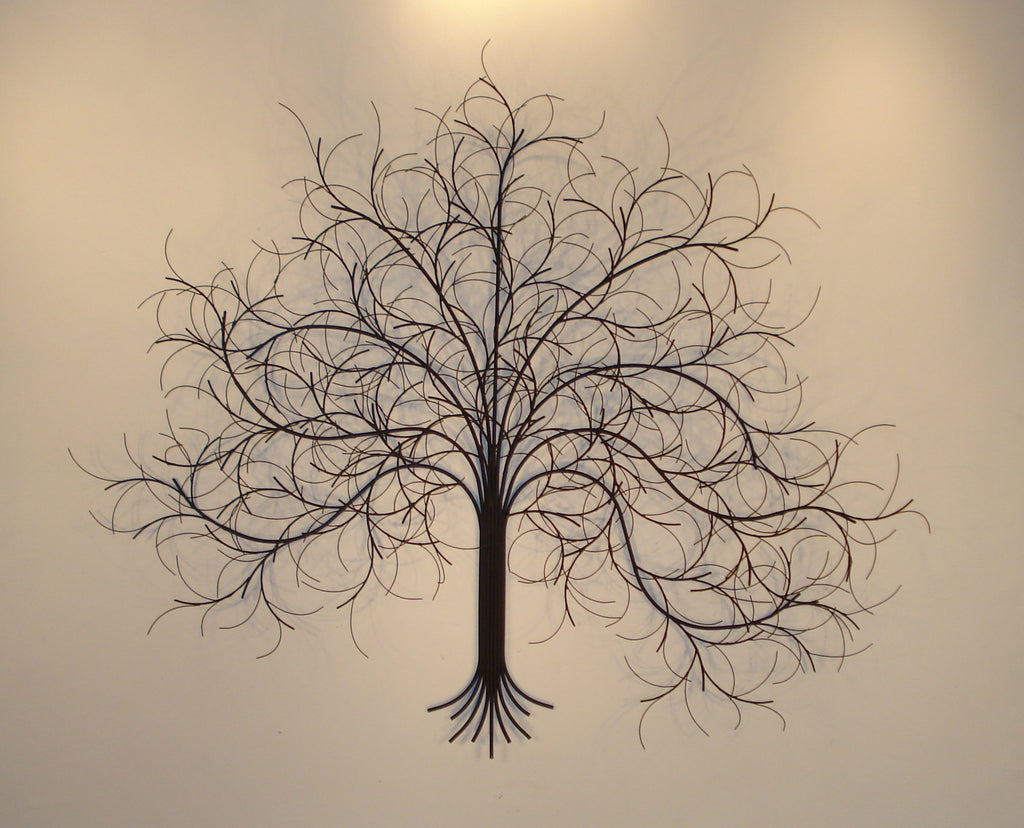 'March Tree Black' Metal Sculpture Wall art