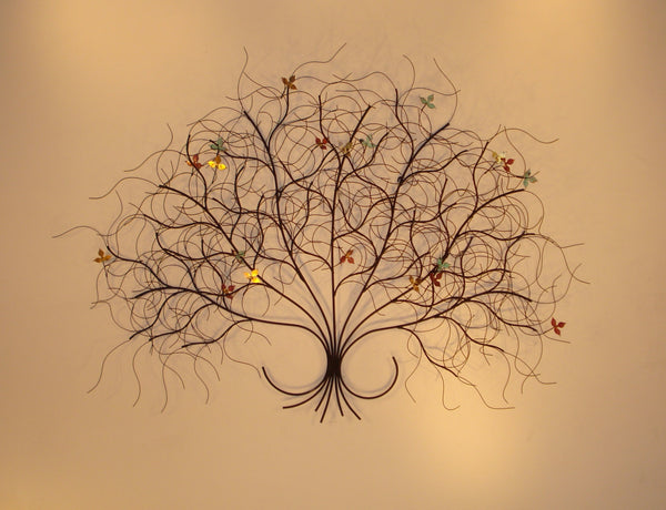 'May Black' Branch metal wall sculpture
