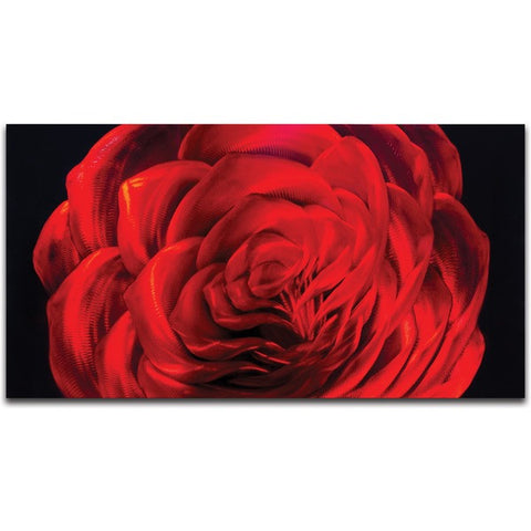 'Midnight Rose' Wall Decoration | Small Floral Metal Wall Art