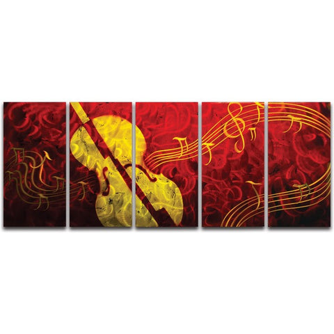 Musical Delight' Brushed Aluminum Wall Decoration | Musical Metal Wall Art