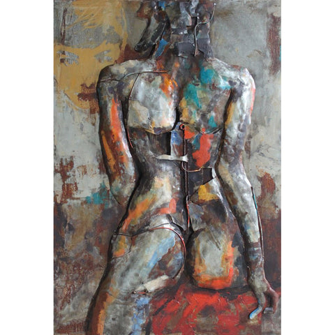 Nude study 1 Iron Wall Art | Figurative Metal Wall Art