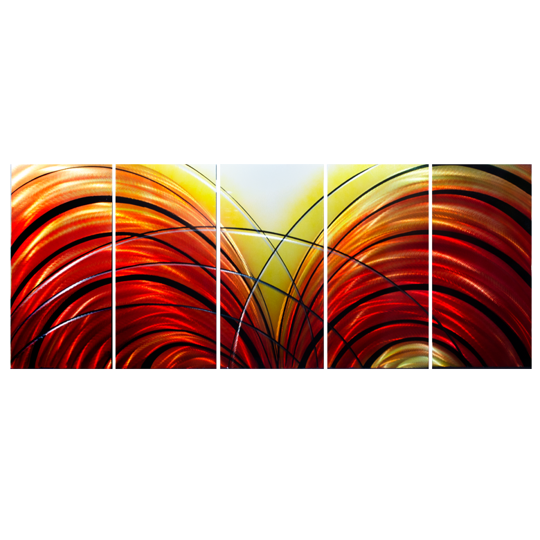 'Fahrenheit 451' Large abstract Metal Wall Art | Painted Aluminum