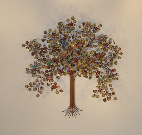 Spring Blossoms Tree' Metal Sculpture Wall Art