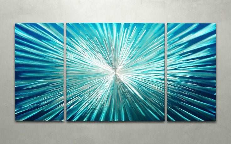 'Hyperspace' 3-piece set Wall Decoration | Brushed Aluminum