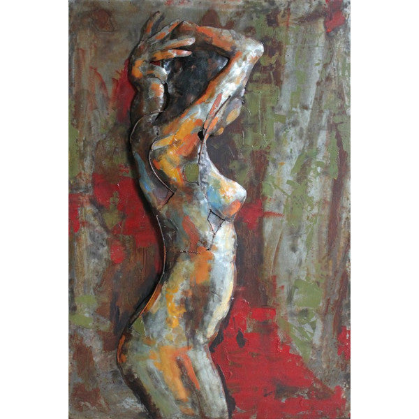 'Nude Study 3' Wall Decoration Sculpture | Iron Wall Art