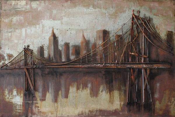 'Bridgescape' Urban & City Wall Decoration | Wrought Iron Wall Art