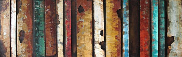 'Rustic Flow 1' Abstract Metal Wall Art | Iron Wall Art