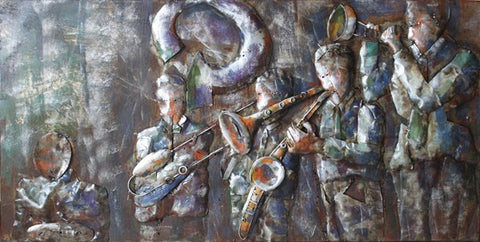 'Jazz Band' Musical Metal Wall Art | Wrought Iron Wall Art
