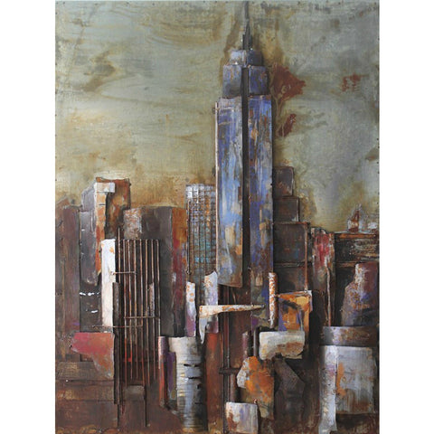 'The Empire State Building' Iron Wall Art  | Urban & City Metal Wall Art