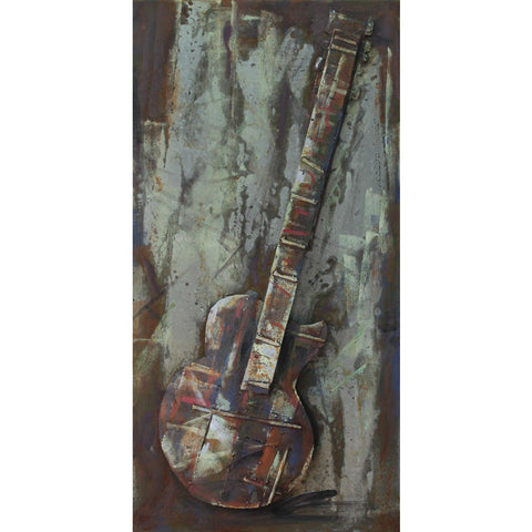 'Electric Guitar' Wall Sculpture | Iron Metal Wall Art