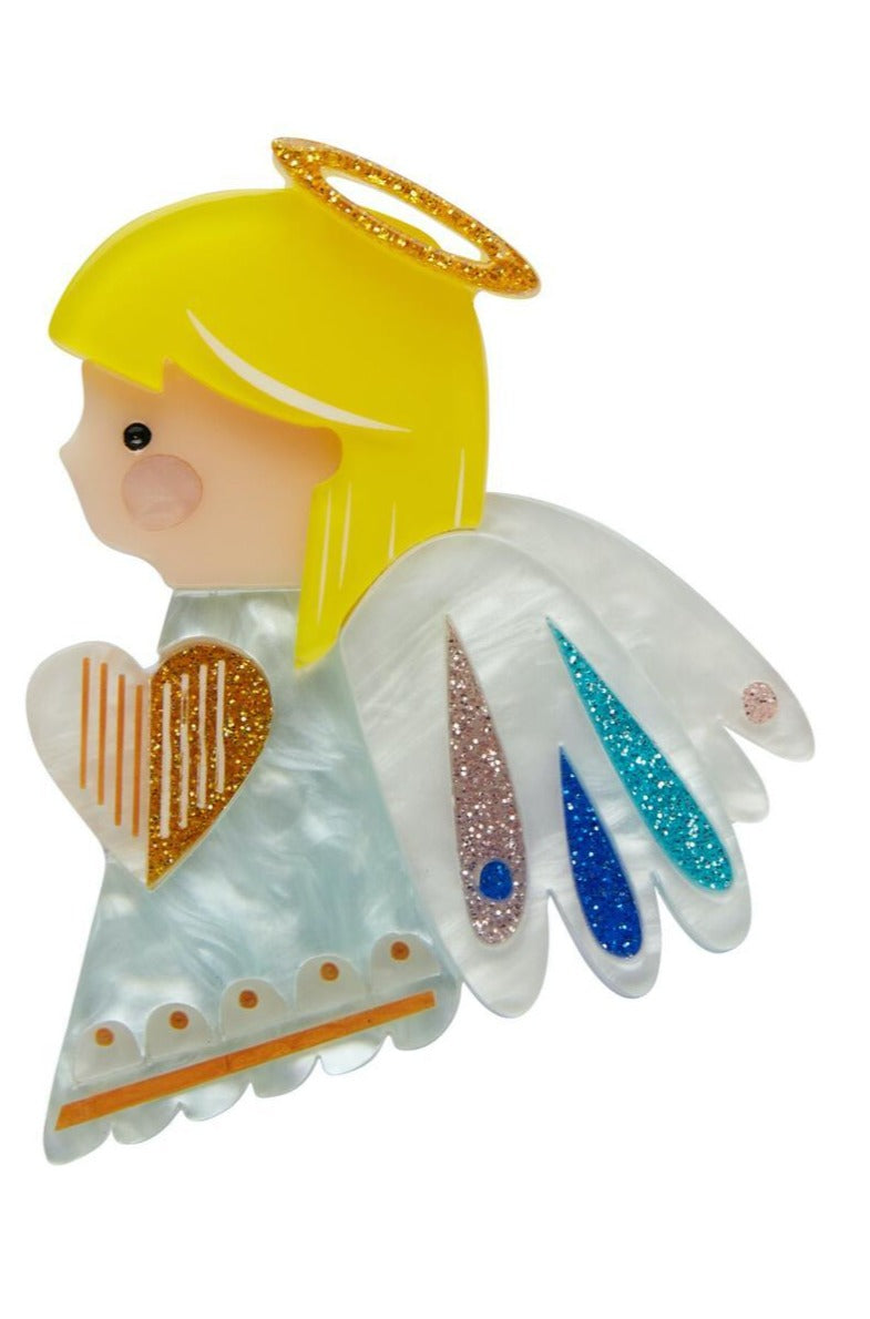 Little Angel Brooch by Pete Cromer X Erstwilder
