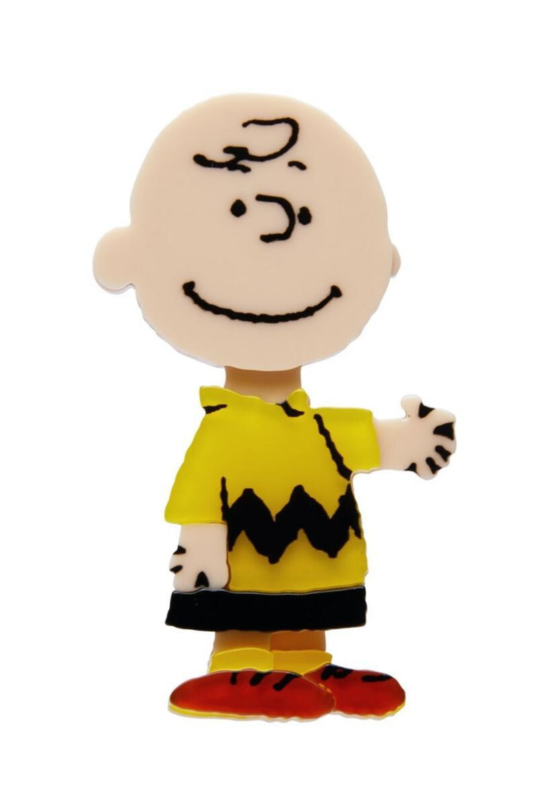 Charlie Brown Brooch by Erstwilder