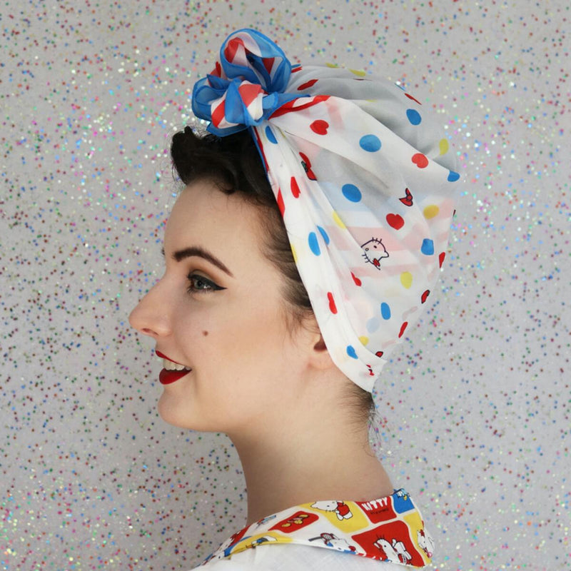 Hello Kitty Polka-Dot Head Scarf by Erstwilder