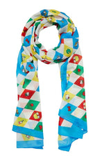 Hello Kitty Argyle Large Neck Scarf by Erstwilder