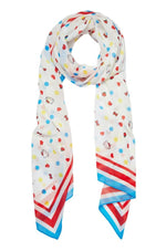 Hello Kitty Polka Dot Large Neck Scarf by Erstwilder