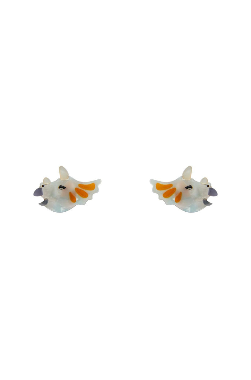 Tricera-Pop Stud Earrings by Erstwilder