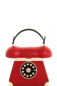 Retro Phone Handbag in Red