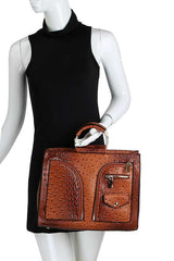 Brown Briefcase Satchel Handbag