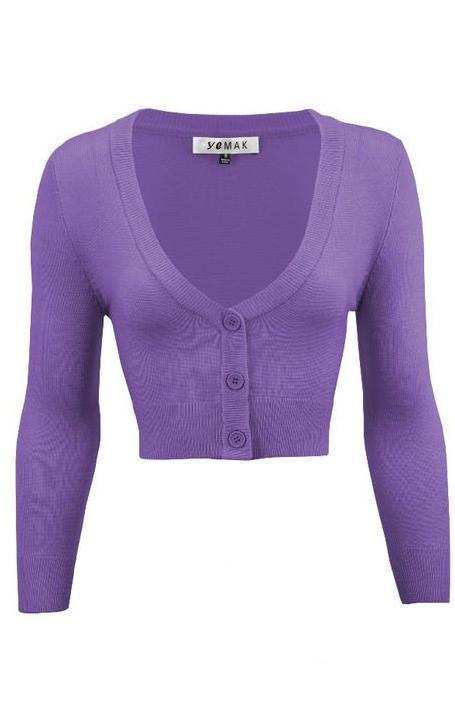 Perfect Cropped Cardi in Blueberry