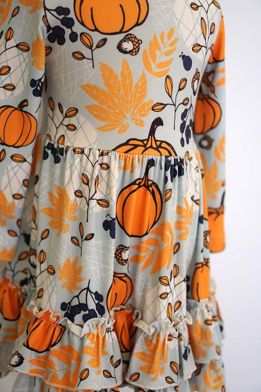 Pumpkins Thanksgiving Kids Dress