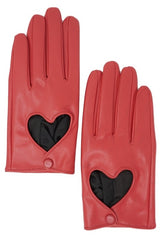 Red Heart Leatherette Gloves