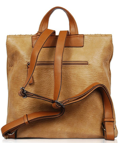 Tan Soft Vegan Backpack