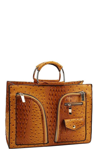 Mustard Briefcase Satchel Handbag