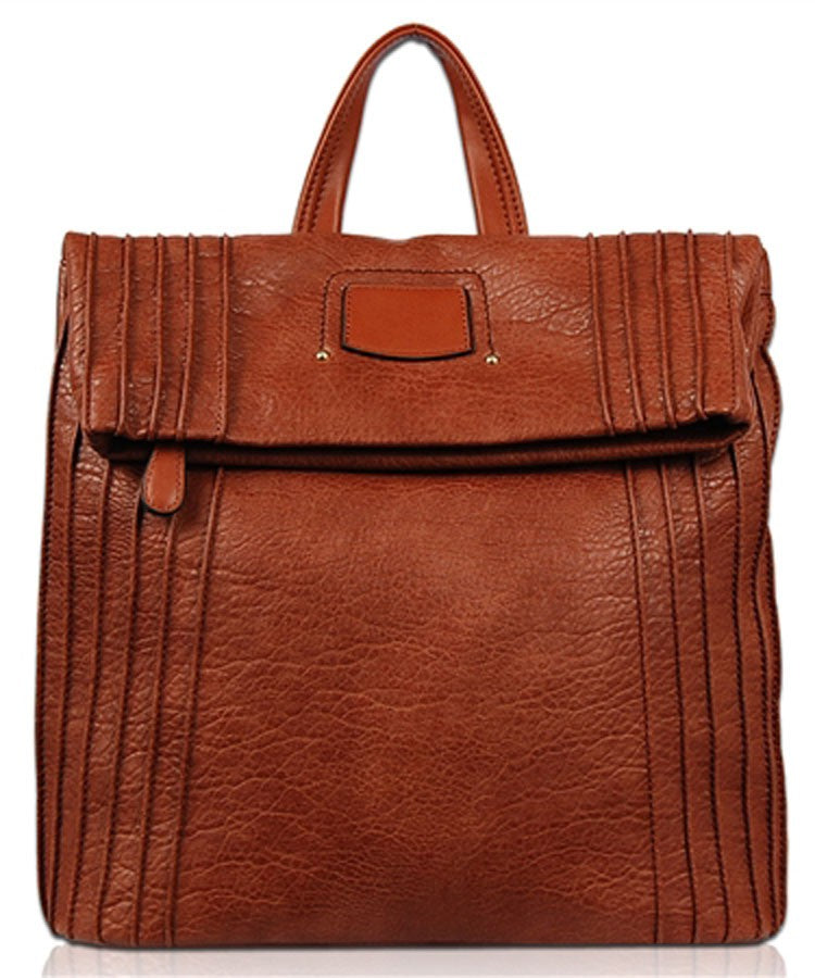 Cognac Soft Vegan Backpack