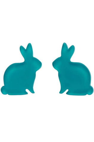 Bunny Bubble Earrings in Teal by Erstwilder