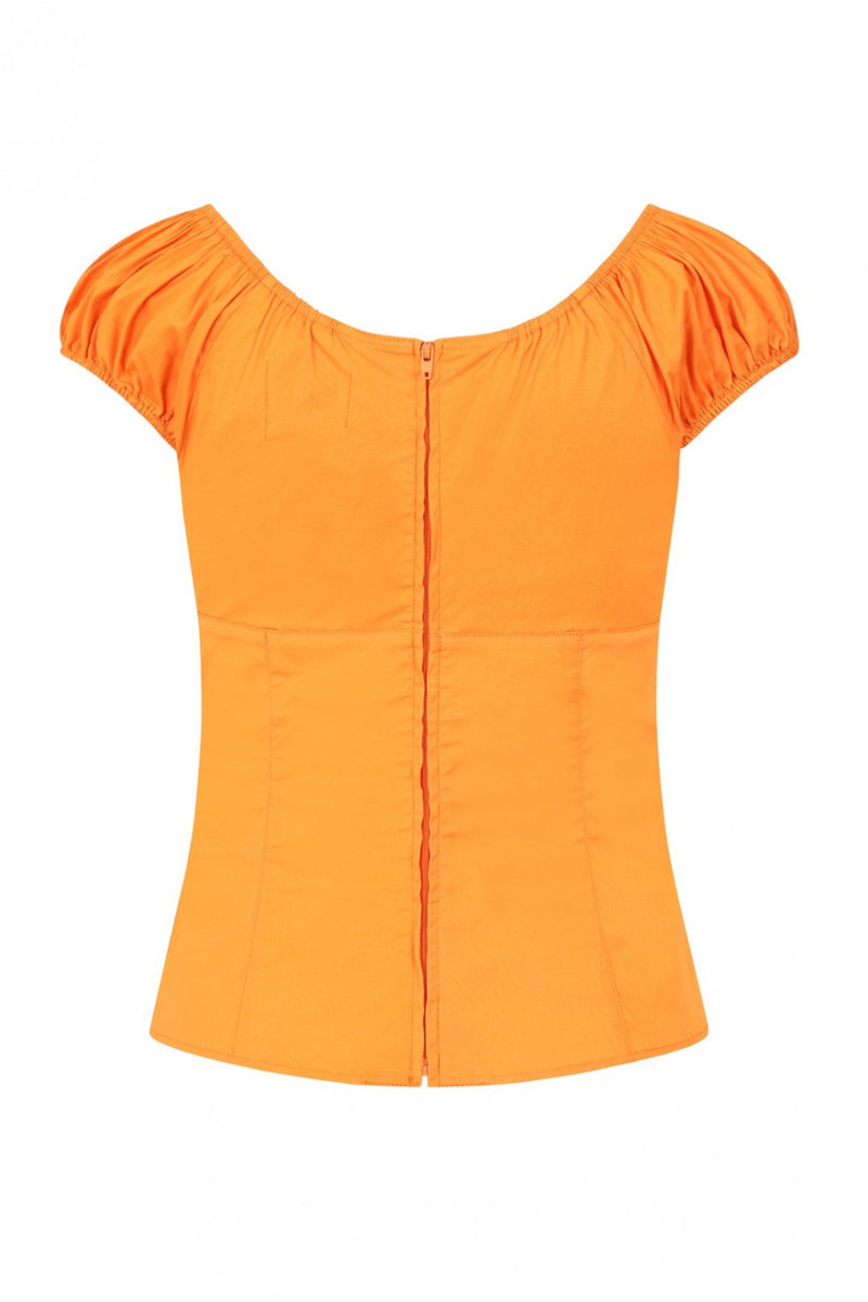 Melissa Top in Orange by Hell Bunny