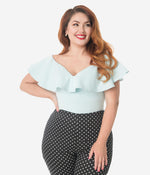 Pale Blue Frenchie Top