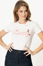 I Love Lucy x Unique Vintage BFF Lucy Fitted T-Shirt Top