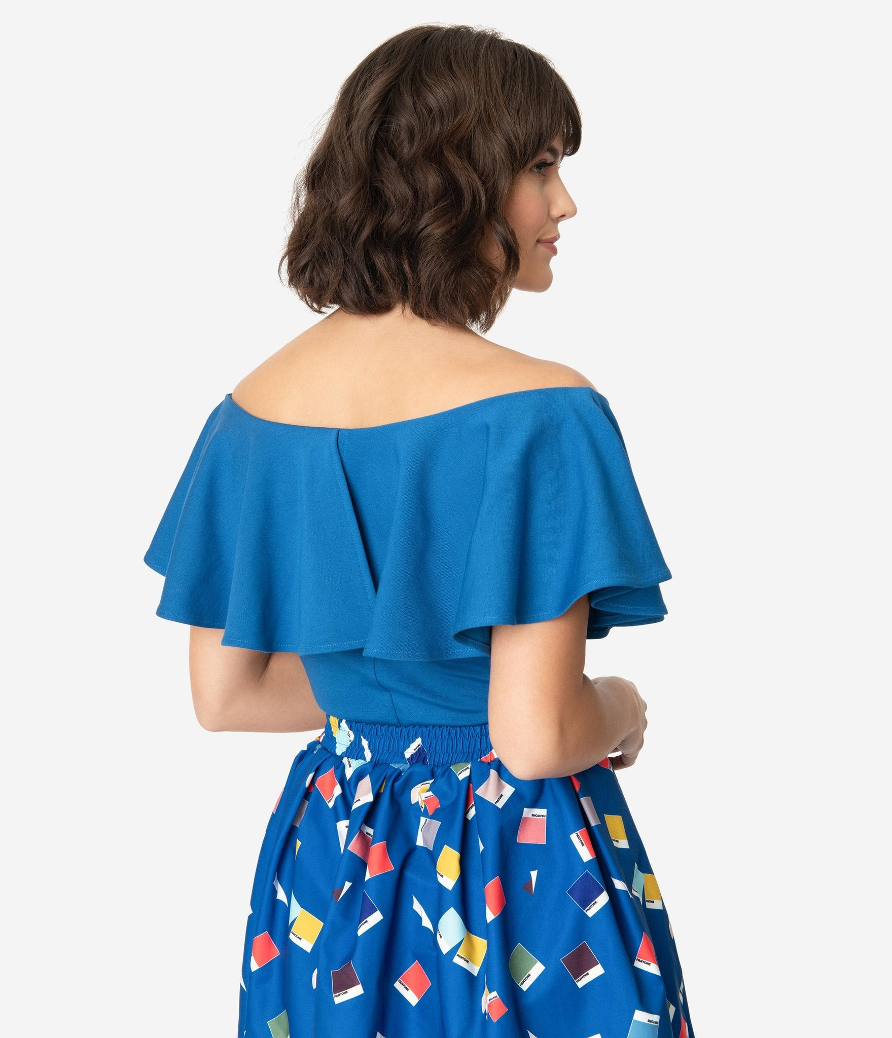 Pantone Classic Blue Frenchie Top by Unique Vintage