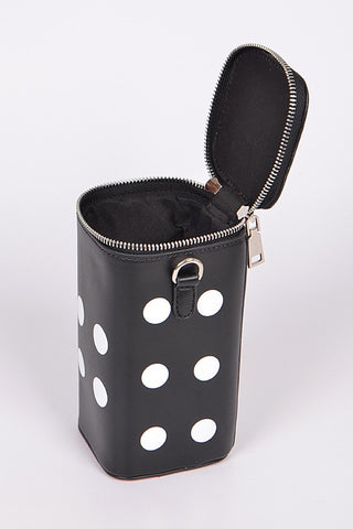 Dice Handbag in Black and Red