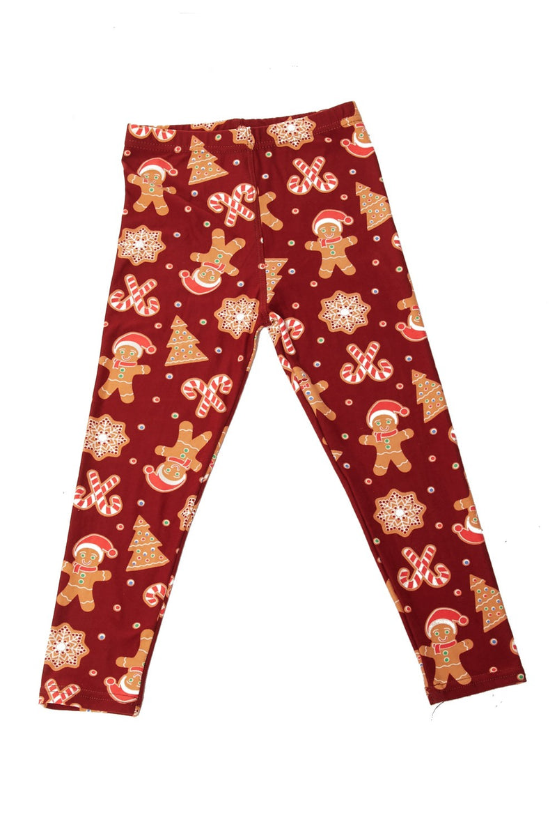 Kids Gingerbread Man Leggings